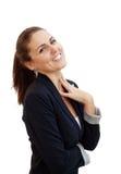 Ritratto di giovane donna attraente di affari immagini stock libere da diritti