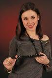 Ritratto di giovane donna attraente felice Fotografia Stock