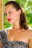 Ritratto di giovane donna caucasica sexy immagini stock libere da diritti