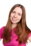 Ritratto di giovane donna con un bello sorriso immagini stock libere da diritti