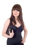Ritratto di giovane donna con una borsa Fotografie Stock
