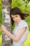 Ritratto di giovane donna dark-haired Fotografia Stock