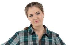 Ritratto di giovane donna dell'agricoltore Fotografie Stock Libere da Diritti