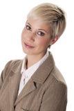 Ritratto di giovane donna di affari. Immagine Stock Libera da Diritti