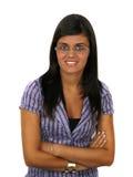 Ritratto di giovane donna di affari attraente Immagini Stock Libere da Diritti