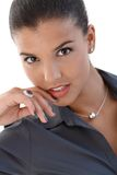 Ritratto di giovane donna di affari sexy Fotografia Stock