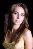 Ritratto di giovane donna di bellezza Fotografia Stock