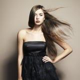 Ritratto di giovane donna di dancing Fotografia Stock
