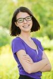 Ritratto di giovane donna di risata Immagine Stock Libera da Diritti