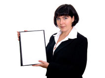 Ritratto di giovane donna felice di affari Immagini Stock
