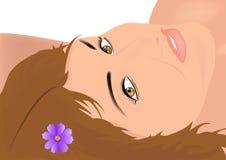 Ritratto di giovane donna felice romantica Fotografia Stock
