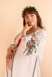 Ritratto di giovane donna incinta Fotografia Stock Libera da Diritti