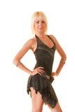 Ritratto di giovane donna nel ballo Immagine Stock Libera da Diritti