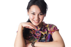 Ritratto di giovane donna sorridente immagini stock libere da diritti