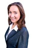 Ritratto di giovane donna sorridente di affari immagine stock