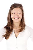 Ritratto di giovane donna sorridente di affari Fotografia Stock Libera da Diritti