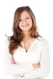 Ritratto di giovane donna sorridente di affari Fotografia Stock