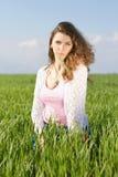 Ritratto di giovane donna splendida immagini stock
