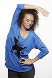 Ritratto di giovane donna in studio Fotografie Stock Libere da Diritti