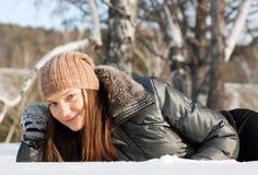 Ritratto di giovane donna sveglia Fotografie Stock Libere da Diritti