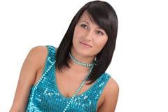Ritratto di giovane donna in vestiti di sera Fotografie Stock Libere da Diritti