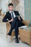 Ritratto di giovane ed uomo d'affari motivato Fotografia Stock Libera da Diritti