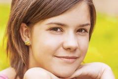 Ritratto di giovane femmina affascinante Fotografia Stock