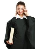 Ritratto di giovane giudice femminile, isolato sopra fotografie stock libere da diritti