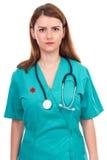 Ritratto di giovane medico femminile con lo stetoscopio Immagine Stock Libera da Diritti