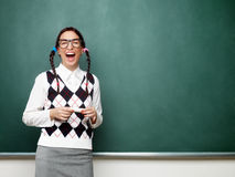 Ritratto di giovane nerd femminile Fotografie Stock