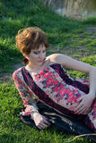 Ritratto di giovane ragazza incinta Immagine Stock Libera da Diritti