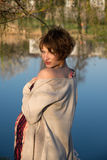 Ritratto di giovane ragazza incinta Fotografie Stock Libere da Diritti