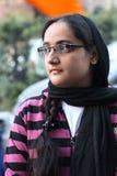 Ritratto di giovane ragazza sikh dall'India Immagini Stock