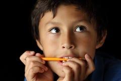 Ritratto di giovane ragazzo - serie del chiaroscuro immagine stock libera da diritti
