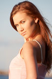 Ritratto di giovane signora Fotografia Stock