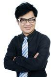 Ritratto di giovane sorridere bello dell'uomo d'affari Immagini Stock