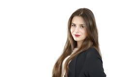 Ritratto di giovane sorridere sveglio della donna di affari Fotografie Stock Libere da Diritti