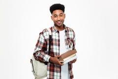 Ritratto di giovane studente maschio africano felice Fotografie Stock Libere da Diritti