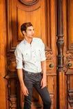 Ritratto di giovane uomo americano a New York Fotografie Stock