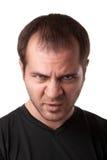 Ritratto di giovane uomo arrabbiato Fotografia Stock Libera da Diritti