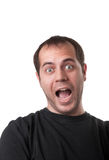 Ritratto di giovane uomo arrabbiato che sreaming Immagini Stock Libere da Diritti