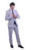 Ritratto di giovane uomo d'affari attraente Fotografia Stock