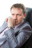 Ritratto di giovane uomo d'affari bello Fotografia Stock