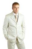Ritratto di giovane uomo d'affari bello Fotografie Stock