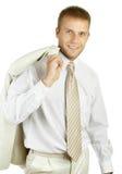 Ritratto di giovane uomo d'affari bello Immagine Stock Libera da Diritti