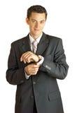 Ritratto di giovane uomo d'affari bello Fotografie Stock Libere da Diritti