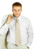Ritratto di giovane uomo d'affari bello Fotografia Stock Libera da Diritti