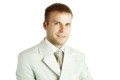 Ritratto di giovane uomo d'affari bello Immagine Stock