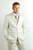 Ritratto di giovane uomo d'affari di risata Fotografie Stock Libere da Diritti