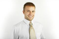 Ritratto di giovane uomo d'affari di risata Immagine Stock